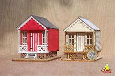 1:48th Quarter Scale Laser-Cut Wooden Dollhouse model kit ALBATROSS Beach Hut