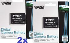 Super Hi Capacity 2-Pcs EN-EL12 Li-Ion Battery For Nikon Coolpix B600 A1000