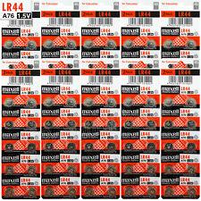 100 x Maxell LR44 Alkaline batteries 1.5V A76 AG13 303 357 L1154 SR44 Pack of 2