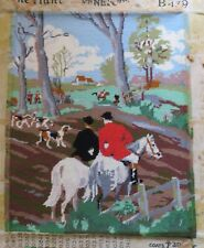 """Completed needlepoint/tapestry The Hunt B349 Penelope 21"""" x 16.5"""""""