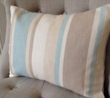 "12x16"" Cushion Cover In Laura Ashley Awning stripe Duck Egg, Austen back"