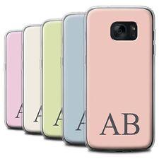 Personalised Custom Pastel Monogram Case for Samsung Galaxy S7/G930 Gel Cover