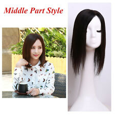 """Swiss Mono 5.2×6.7"""" of 1*Layer Remy Human Hair Topper Toupee Hairpiece For Women"""