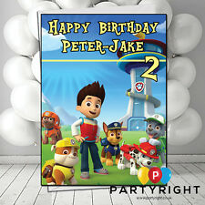 Personalised Paw Patrol Birthday Or Any Event Card A5 Large Your Name And Age