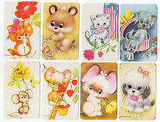 #600.002 Blank Back Swap Cards -MINT- Lot of 8 - Critters