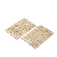 1/35 Soldier Wooden Box Model Military Scene Building DIY Unassembled Parts