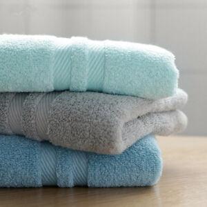 34x75cm 100% Cotton Plain Solid Color Bathroom Men's Soft Face Hand Sport Towel