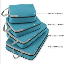 Gonex Compression Packing Cubes Set Expandable Packing Organizers 4pcs (green)
