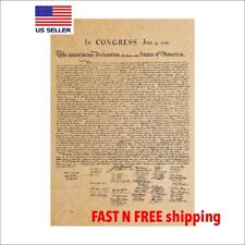 "Declaration of independence/ America Poster/replic/20"" X 14""/ US history"