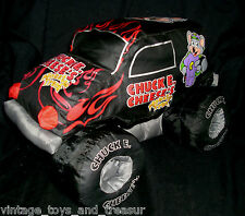 BIG CHUCK E CHEESE PIZZA NYLON BLACK MONSTER TRUCK STUFFED ANIMAL PLUSH TOY SOFT