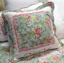 Shabby Chic Cushion Pillow Cover Sham Patchwork 45 cm sq 17.5""