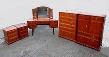 Superb Meredew bedroom suite set chest of drawers dressing table tallboy bedside