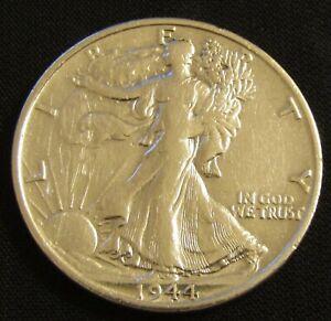 1944-S 50C Walking Liberty Half Dollar 90% Silver AN10