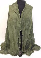 Fashion Women/Men's Solid Cotton Linen Scarf Shawl Stole Wrap PASHMINA ,Green