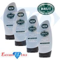 Brut Original Shower Gel Mens Body Wash Freshly Scented - 4 x 250ml