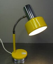 Pop Art Design 70s-Designer lámpara lámpara de mesa biegelampe señal de color amarillo ~ 70er