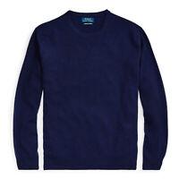 $248 NWT POLO RALPH LAUREN Men's Crewneck Washable 100% Cashmere Sweater Large L