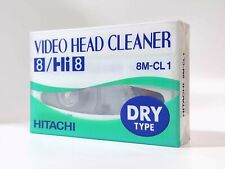[ SEALED ] HITACHI Video Head Cleaner Cleaning Cassette Tape for 8mm Hi8 #0151-1