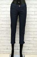 Pantalone THINK PINK Donna Taglia 38 Jeans Pants Woman Cotone Blu Slim Fit Corto