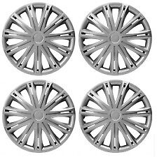 """16"""" Silver Universal Wheel Trims Hub Caps Set Of 4 For All Makes & Models"""