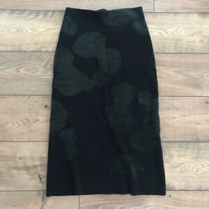 COS Green Black Midi Skirt Size XS