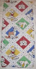 Vtg Disney 101 Dalmatians Flannel Full  Flat Sheet