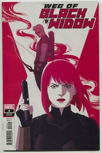 Web Of Black Widow 4 Marvel 2019 VF NM 1:25 Audrey Mok Variant Hawkeye