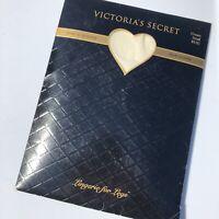 New Victorias Secret Pantyhose S Small Cream Sensual Maxi Shaper Lingerie NIP