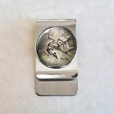 Archaeopteryx dinosaur fossil Paleontology Science Stainless Steel Money Clip