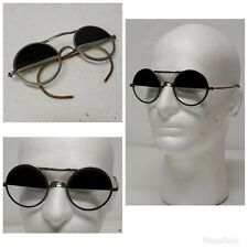 Vintage Willson Half Tint Goggles Welding Steampunk Aviator Safety Glasses RARE!