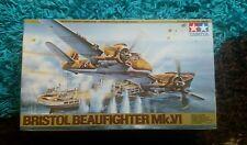 Tamiya 1/48 Bristol Beaufighter Mk.VI Military Aircraft Great Condition RARE