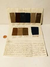 1765 Nostell Priory Refurbish 10 Textile Samples Cloth & Prices R.Hargreaves