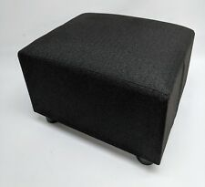 Footstool / Small Stool / Pouffe /black Herringbone linen look British Made