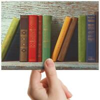 "Colorful Book Shelf Library Small Photograph 6"" x 4"" Art Print Photo Gift #14819"