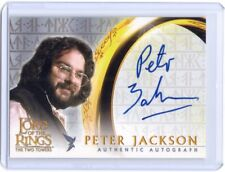 LOTR Lord of The Rings TTT Two Towers Director Peter Jackson autograph auto card