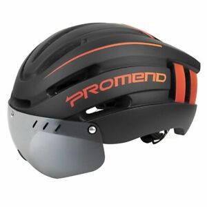 Bicycle Helmet LED Light Rechargeable Intergrally Molded Mountain Road Bike Cap