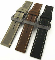Gents Handmade Smooth Tanned Crazy Horse Leather Top High Quality Watch Strap