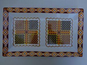 "NEW Porcelain Rectangular Serving Platter China Italy Tray Plate 14"" Orange"