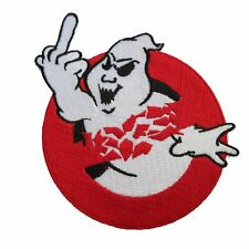 Ghost Buster Patch Iron On Middle Finger Rebel Horror Movie Goth Collectible