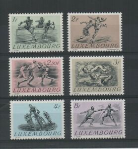 Stamps Luxembourg 1952 Olympics set of 6 mint lightly hinged.