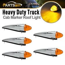 5) 17 LED Amber Torpedo Cab Marker Clearance Roof Running Top Light For Kenworth