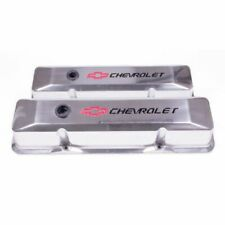 Proform 141-108 Engine Valve Covers Tall Style DieCast Polished For SB Chevy NEW