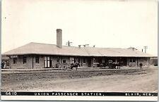 RPPC NE Blair Union Passenger Station Train Railroad Real Photo Postcard AC1