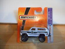 Matchbox Chevy Blazer Park ranger in White on Blister