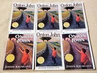 Lot 6 ONION JOHN Books JOSEPH KRUMGOLD Guided Reading Teacher Class Set NEWBERY