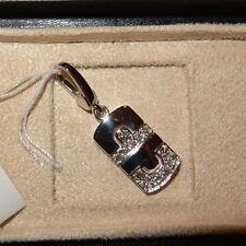 NEW BULGARI BVLGARI 18K White Gold Diamond Parentesi Pendant, $3103