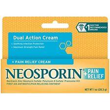 4 Pack - Neosporin + Pain Relief Cream Maximum Strength 1oz Each