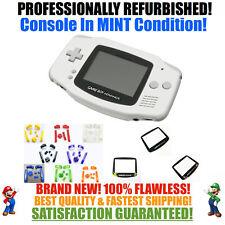 *NEW SCREEN* Nintendo Game Boy Advance GBA White System CUSTOM MINT NEW