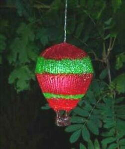RED BALLOON SOLAR HANGING GARDEN LANTERN PATIO LED LIGHTS INDOOR OUTDOOR NEW