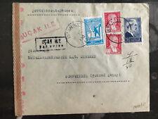 1943 Istanbul Turkey Censored Cover to Schweinitz Germany Dresdener bank